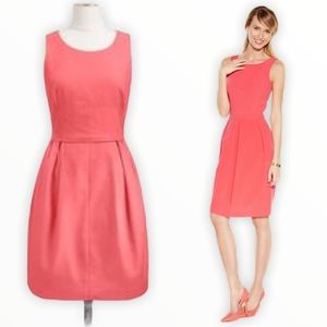 J. Crew Pink Coral Textured Fit and Flare Dress